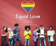 Равный гомосексуалиста LGBT выпрямляет концепцию гомосексуализма Стоковые Изображения RF