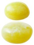 2 драгоценной камня кальцита изолированной на белизне Стоковые Изображения RF