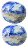 2 драгоценной камня содалита изолированной на белизне Стоковые Изображения RF