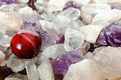 драгоценные камни moonstone минирования Стоковая Фотография RF