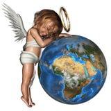 радетель ангела иллюстрация вектора
