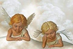 радетель ангелов иллюстрация вектора