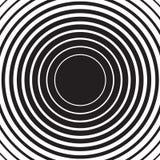 Радиальная предпосылка пульсации концентрического круга иллюстрация штока