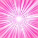 Радиальные яркие лучи в розовой предпосылке иллюстрация штока