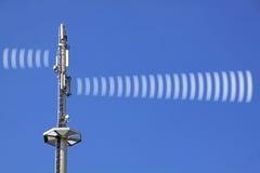 Радиация башни радио Стоковое Изображение