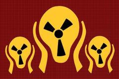 Радиация предосторежения, страх террора клекота бесплатная иллюстрация