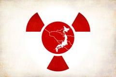 радиоактивность японии землетрясения иллюстрация вектора