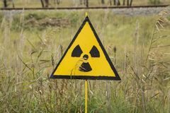 Радиоактивный знак на Chenobyl Стоковые Фотографии RF