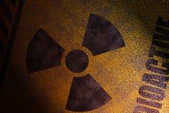 радиоактивный знак стоковое фото rf