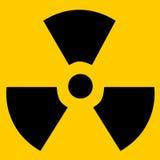 радиоактивный знак Стоковые Изображения