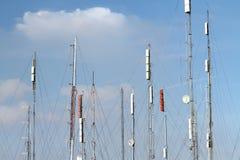 радиосвязь антенн стоковые фото