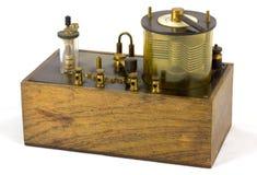 радиотелеграф античного кристалла установленный Стоковое Изображение RF