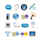 радиотелеграф иконы установленный Стоковые Изображения
