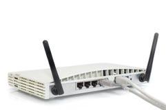 радиотелеграф маршрутизатора dsl кабеля Стоковое Изображение
