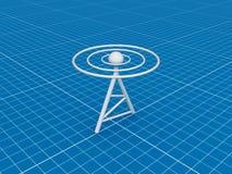 радиотелеграф принципиальной схемы Стоковое Фото