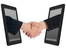радиотелеграф таблетки handshaking принципиальной схемы компьютера Стоковая Фотография RF
