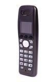 радиотелеграф телефона черного цвета цифровой изолированный Стоковые Изображения RF