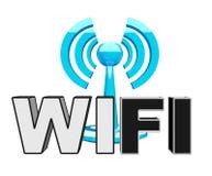 радиотелеграф wifi голубой иконы самомоднейший иллюстрация вектора