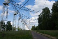 Радиотелескоп в Pushchino Стоковые Фотографии RF