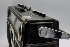 Радио были очень большими, содержащ 2 дикторов и игрока кассеты стоковая фотография