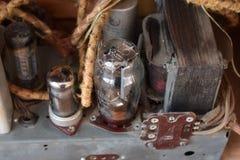Радио лампы - внутренние элементы стоковое фото