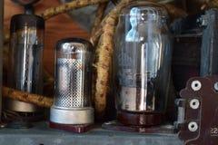 Радио лампы - внутренние элементы стоковое изображение rf