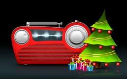 Радио рождества иллюстрация вектора