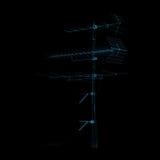 радио tv антенны голубое Стоковое Изображение RF