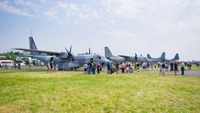 Радом Airshow, Польша стоковая фотография