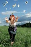 радостная женщина стоковое изображение rf