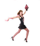 радостная женщина стоковая фотография