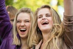 Радостные девушки Стоковая Фотография RF