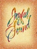 радостный звук Стоковые Фотографии RF
