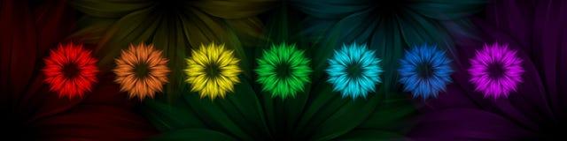 радуга абстрактной черноты предпосылки флористическая Стоковые Фото