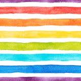 Радуга акварели stripes картина иллюстрация вектора