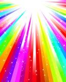 радуга взрыва Стоковое Фото