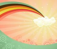 радуга вниз Стоковые Изображения RF