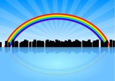 радуга города Стоковая Фотография RF