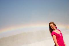 радуга девушки Стоковая Фотография RF