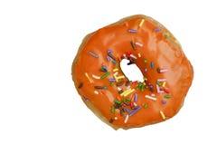 радуга застекленная донутом померанцовая брызгает Стоковая Фотография RF