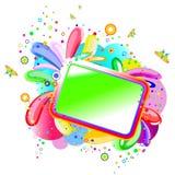 радуга знамени флористическая Стоковое Изображение