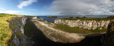 радуга Ирландии северная Стоковые Изображения RF