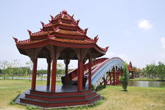 радуга камбоджийца моста верования Стоковые Фотографии RF
