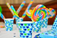 Радуга конфеты сладкая покрасила стоковое изображение