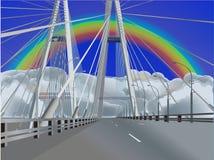 радуга моста пустая самомоднейшая вниз бесплатная иллюстрация