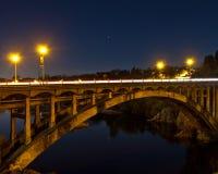 радуга моста стоковая фотография