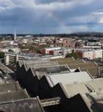 Радуга над Дублином Ирландией 3 Стоковое Фото