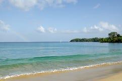 Радуга на заливе усадьбы, Тобаго Стоковая Фотография RF