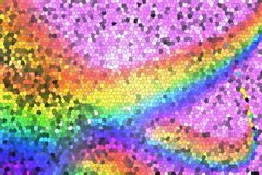 Радуга на розовой предпосылке от мозаики стоковые изображения
