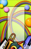 радуга нот рамки иллюстрация вектора